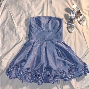 lavender short formal dress